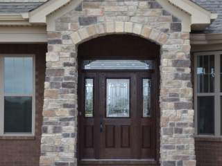 Arched Stone Entry
