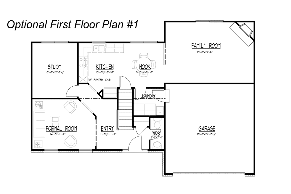 Stone Optional First Floor Plan #1