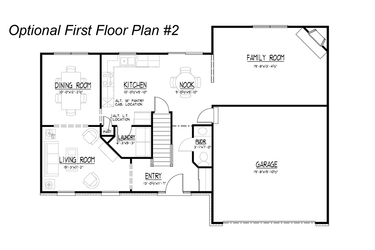 Stone Optional First Floor Plan #2