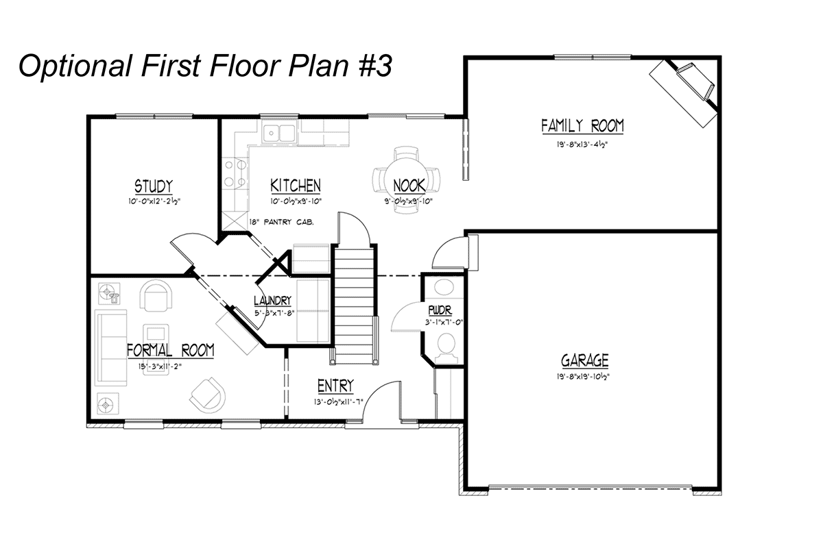 Stone Optional First Floor Plan #3