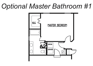 The Waters - Optional Master Bathroom 1